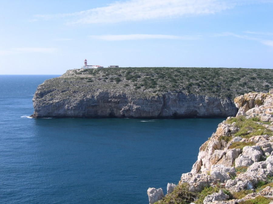 Cape St Vincent cliff and lighthouse