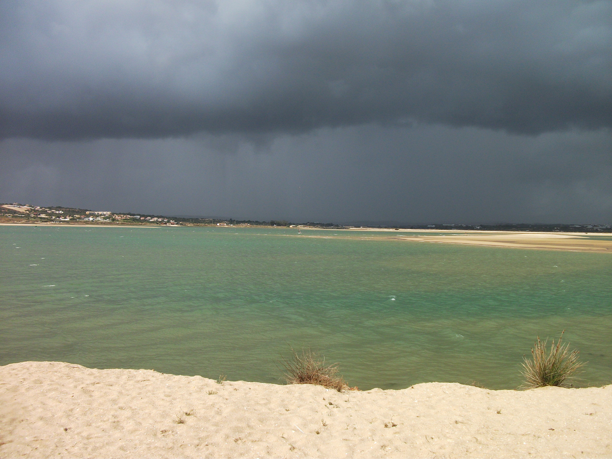 stormy sky over the estuary
