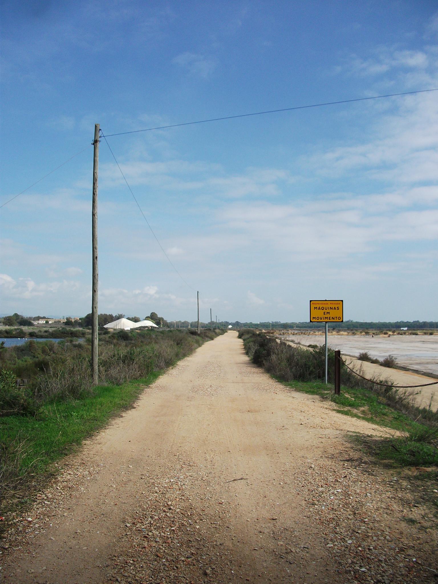A track by saltpans